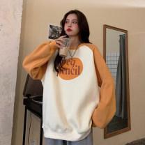 Women's large Winter 2020 Ginger, dark blue S (75-95 kg), m (95-105 kg), l (105-120 kg), XL (120-140 kg), 2XL (140-160 kg), 3XL (160-180 kg), 4XL (180-200 kg) Sweater / sweater singleton  commute easy thickening Socket Long sleeves Korean version Crew neck Medium length other routine 18-24 years old