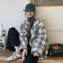 Women's large Winter 2020 Picture color S (75-95 kg), m (95-105 kg), l (105-120 kg), XL (120-140 kg), 2XL (140-160 kg), 3XL (160-180 kg), 4XL (180-200 kg) Jacket / jacket singleton  commute easy thickening Cardigan Long sleeves lattice Korean version routine other Three dimensional cutting routine