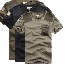 T-shirt Fashion City thin M L XL XXL XXXL Free Knight Short sleeve Crew neck easy Other leisure summer routine Military brigade of tooling Summer of 2019 Solid color Embroidered logo Cotton polyester other Domestic famous brands Pure e-commerce (online only)