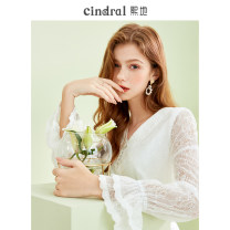 Dress Winter 2020 White (spot) XS S M L Middle-skirt singleton  Long sleeves commute Doll Collar Solid color A-line skirt routine Others 25-29 years old Xi di Cut out stitching button More than 95% polyester fiber Polyethylene terephthalate (polyester) 100% Pure e-commerce (online only)