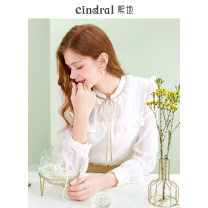 shirt Beige (in stock) S M L XL Winter 2020 polyester fiber 96% and above Long sleeves commute Regular other Single row multi button puff sleeve Solid color 25-29 years old Self cultivation Xi di CT10031 Bow button Polyethylene terephthalate (polyester) 100% Pure e-commerce (online only)