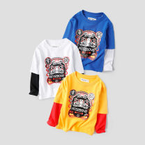 T-shirt Warren land / Cheng paradise male spring and autumn Long sleeves Crew neck leisure time There are models in the real shooting nothing cotton Cartoon animation Cotton 100% Class B Sweat absorption 2, 3, 4, 5, 6, 7, 8, 9, 10, 11, 12, 13, 14 years old Chinese Mainland