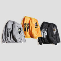 Plain coat Warren land / Cheng paradise male Yibiao 110, Yibiao 120, Yibiao 130, Yibiao 140, Yibiao 150 Yellow, gray, black spring and autumn leisure time Zipper shirt No model routine nothing Solid color other V-neck 07WT020 Polyethylene terephthalate (polyester) 100%
