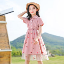 Dress Yellow pink female Youmi house 120cm 130cm 140cm 150cm 160cm 170cm Other 100% summer lady Short sleeve other other A-line skirt YMW-20092 Summer 2020 5 years old, 6 years old, 7 years old, 8 years old, 9 years old, 10 years old, 11 years old, 12 years old, 13 years old, 14 years old