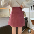 skirt Autumn 2020 S,M,L Apricot, purple, black, pink Short skirt commute High waist A-line skirt Solid color Type A 18-24 years old Y1105 30% and below other Other / other Korean version