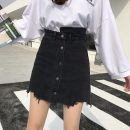 skirt Spring 2021 S,M,L,XL black Short skirt Versatile High waist Irregular Type A 18-24 years old 71% (inclusive) - 80% (inclusive) Other / other other tassels