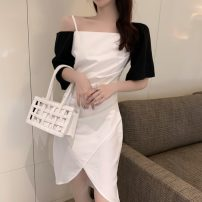 Fashion suit Summer 2021 S, M White, black 18-25 years old Other / other 0417L 30% and below
