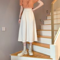 skirt Spring 2021 Average size Apricot, black Mid length dress commute High waist A-line skirt Type A 18-24 years old 0403L 30% and below other Other / other Korean version