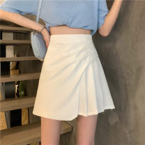 skirt Spring 2021 S,M,L White, black Short skirt commute High waist Irregular Type A 18-24 years old 0414L 30% and below other Other / other Korean version