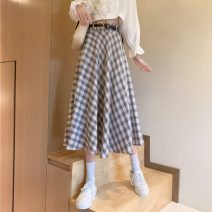 skirt Spring 2021 Average size Apricot, grey Mid length dress commute High waist A-line skirt lattice Type A 18-24 years old 0118M 31% (inclusive) - 50% (inclusive) other Other / other Korean version