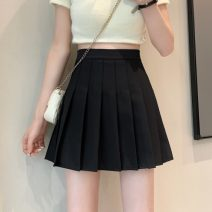 skirt Spring 2021 S,M,L White, black, blue, green Short skirt commute High waist Pleated skirt lattice Type A 18-24 years old 0403L 30% and below other Other / other Korean version
