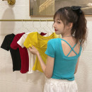 T-shirt Lake blue, white, red, yellow, black Average size Summer 2021 Short sleeve Crew neck Self cultivation have cash less than that is registered in the accounts commute other 30% and below 18-24 years old Korean version Solid color Other / other 0417L