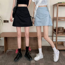 skirt Spring 2021 S,M,L Light blue, white, black Short skirt commute High waist A-line skirt Solid color Type A 18-24 years old 0331L 30% and below other Other / other Korean version