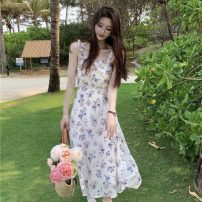 Dress Spring 2021 Dress, sunscreen Average size Mid length dress Two piece set elbow sleeve commute Broken flowers other camisole 18-24 years old Other / other Korean version 0406L 30% and below other