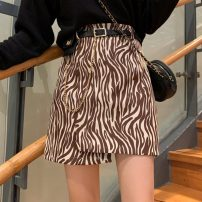 skirt Autumn 2020 S,M,L Zebra black + belt, zebra coffee + belt, leopard + belt Short skirt commute High waist A-line skirt Zebra pattern Type A 18-24 years old 0902M 31% (inclusive) - 50% (inclusive) other Other / other Korean version