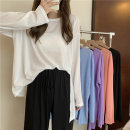 T-shirt white , violet , blue , black , orange Average size Spring 2021 Long sleeves Crew neck easy Medium length commute other 30% and below 18-24 years old Korean version Other / other 0409L
