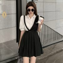 Fashion suit Summer 2021 S. M, l, average size A white shirt with a skirt 18-25 years old Other / other 0410L 30% and below