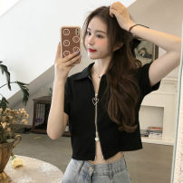 T-shirt Gray, black M,L,XL Summer 2021 Short sleeve Polo collar Self cultivation have cash less than that is registered in the accounts commute other 30% and below 18-24 years old Korean version Other / other 0417L