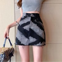 skirt Spring 2021 S,M,L black Short skirt commute High waist A-line skirt Type A 18-24 years old W0402 30% and below other Other / other Korean version