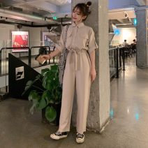 Casual pants Apricot, grapefruit red Average size Spring 2021 trousers Straight pants High waist commute 18-24 years old 30% and below 0311L Other / other other Korean version