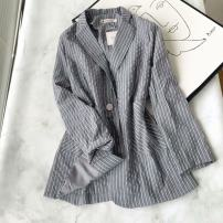 Women's large Autumn 2020 grey Large XL, large XXL, large XXL suit singleton  commute moderate Cardigan Long sleeves Korean version Three dimensional cutting md----9006 25-29 years old