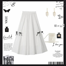 skirt Summer 2021 Average size (80-130 kg) Black, white commute Solid color 25-29 years old More than 95% pocket