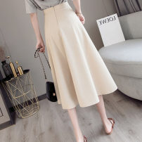 skirt Spring 2021 S,M,L,XL,2XL Black, apricot, bean green longuette commute High waist Umbrella skirt Solid color Type A 18-24 years old XS 6602 51% (inclusive) - 70% (inclusive) other other Pleated, zipper Korean version