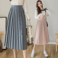 skirt Summer 2021 Average size Apricot, pink, blue, black Mid length dress commute High waist Pleated skirt Solid color Type A 18-24 years old M425 51% (inclusive) - 70% (inclusive) other Korean version