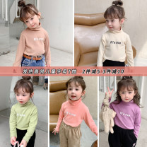T-shirt Other / other 80cm,90cm,100cm,110cm,120cm,130cm female winter Long sleeves High collar Korean version There are models in the real shooting nothing cotton other Sweat absorption 12 months, 9 months, 18 months, 2 years old, 3 years old, 4 years old, 5 years old, 6 years old, 7 years old