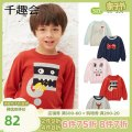 Sweater / sweater 80cm 90cm 100cm 110cm 120cm 130cm cotton neutral Senshukai / Fun Club leisure time Socket routine Crew neck Cotton 100% Long sleeves spring and autumn Five, six, seven, eight, nine, ten, eleven, twelve Chinese Mainland