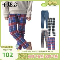 trousers Senshukai / Fun Club neutral 80cm 90cm 100cm 110cm 120cm 130cm 140cm 150cm Blue Stripe Black checkerboard white checkerboard Navy vertical stripe spring and autumn trousers leisure time There are models in the real shooting Leather belt middle-waisted other Don't open the crotch E34263