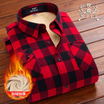shirt 36 37 38 39 40 41 42 Winter 2017 polyester fiber 51% (inclusive) - 70% (inclusive) Long sleeves Sweet Regular square neck Single row multi button routine lattice 18-24 years old Self cultivation stag  NZ01 Lace button Polyester 53.2% cotton 46.8%