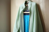 """Hanfu 96% and above """"Jade green plain cotton and linen vertical collar cardigan"""" and """"Emerald blue Jumbo wheat nylon pleated skirt"""" Other sizes silk"""