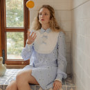 Dress Spring 2021 Sweet tea S M L longuette singleton  Long sleeves Sweet Doll Collar High waist Solid color Single breasted A-line skirt routine 25-29 years old ISISLOVE Auricular zipper More than 95% cotton Cotton 100% Countryside