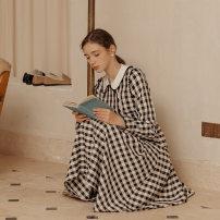 Dress Winter 2020 Chantilly S M L Mid length dress singleton  Long sleeves Doll Collar High waist lattice 25-29 years old ISISLOVE More than 95% polyester fiber Polyester 95% polyurethane elastic fiber (spandex) 5%
