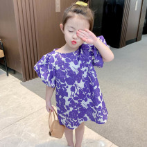 Dress violet female Other / other The recommended height is 85-95cm for 90, 95-105cm for 100, 105-115cm for 110, 115-125cm for 120 and 125-135cm for 130 Other 100% summer Broken flowers other A-line skirt 12 months, 18 months, 2 years old, 3 years old, 4 years old, 5 years old, 6 years old
