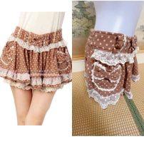 skirt Spring 2021 Average size coffee Short skirt Rococo Dot