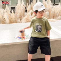 T-shirt Mizoguo 110cm 120cm 130cm 140cm 150cm 160cm male summer Short sleeve Crew neck leisure time There are models in the real shooting nothing Pure cotton (100% cotton content) Cartoon animation Cotton 100% Class B Sweat absorption Summer 2021