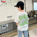 T-shirt White, gray, big size Mizoguo 110cm 120cm 130cm 140cm 150cm 160cm male summer Short sleeve Crew neck leisure time There are models in the real shooting nothing Pure cotton (100% cotton content) printing Cotton 100% mdtx21223 Class B Sweat absorption Summer 2021