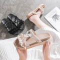 Sandals 35 36 37 38 39 40 Black Beige black upgrade Beige upgrade black rugged Beige rugged cloth Japanese Dictionary Barefoot Muffin bottom Low heel (1-3cm) Summer of 2019 Trochanter Korean version Solid color Adhesive shoes Youth (18-40 years old) polyurethane daily Back space Muffin with Low Gang