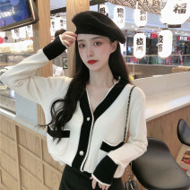 Wool knitwear Autumn 2020 Average size Black, off white, grey Long sleeves singleton  Cardigan other 30% and below Regular routine commute V-neck routine Single breasted Korean version 18-24 years old Button