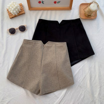Casual pants Khaki, black S,M,L Spring 2021 shorts Wide leg pants High waist commute thickening 18-24 years old 30% and below other