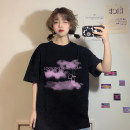 T-shirt Average size Spring 2021 Short sleeve Crew neck easy Regular routine commute other 30% and below 18-24 years old Korean version youth Geometric patterns, letters printing