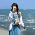 Dress Summer 2021 Average size Mid length dress singleton  Sleeveless commute other High waist other A-line skirt routine camisole 18-24 years old Type A Korean version 30% and below other