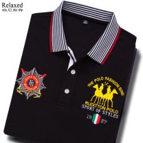 T-shirt Fashion City Black, white, dark green, red, yellow, blue, sapphire routine S,M,L,XL,2XL,3XL,4XL,5XL,6XL Others Long sleeves Lapel standard daily spring C19806-B Cotton 100% youth routine Business Casual Bead mesh 2021 Solid color Embroidered logo cotton Brand logo washing More than 95%