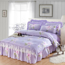 Bedding Set / four piece set / multi piece set cotton other Plants and flowers 128x68 Smo / Sinon cotton 4 pieces 40 1.2m (4 ft) bed 1.5m (5 ft) bed 1.8m (6 ft) bed 2.0m (6.6 ft) bed Bed skirt Qualified products Korean style 100% cotton twill Reactive Print  Thermal storage