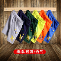 trousers Nanyi male 120cm 130cm 140cm 150cm 160cm 170cm summer shorts motion There are models in the real shooting Sports pants Tether middle-waisted cotton Don't open the crotch Cotton 95% polyurethane elastic fiber (spandex) 5% Class B Summer of 2018