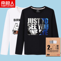 T-shirt Youth fashion routine 3XL 165/S 170/M 175/L 180/XL 185/2XL 4XL 5XL 6XL NGGGN Long sleeves Crew neck easy daily spring Cotton 100% teenagers routine tide Cotton wool Spring 2020 Geometric pattern printing cotton other No iron treatment Fashion brand Pure e-commerce (online only) More than 95%