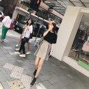 skirt Summer of 2018 S M L Check mix Short skirt Versatile High waist A-line skirt lattice Type A D182F290 91% (inclusive) - 95% (inclusive) polyester fiber