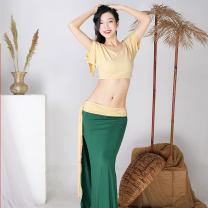 Belly Dance suit (performance dress) Jinwumen Forest green + Ka base, sky blue + Ka base, forest green + pink purple M,L,XL female SUN0014 other